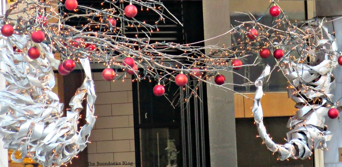Hanging ornaments in the streets , Christmas in the heart of the city - the boondocks blog