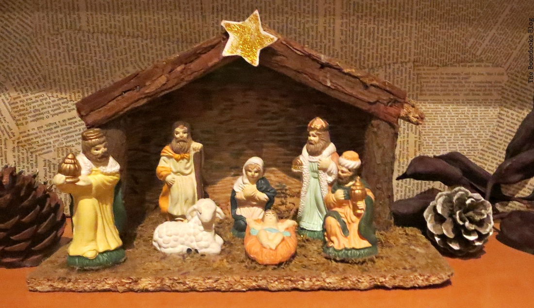 Nativity, Home for Christmas Blog Hop - The Boondocks Blog