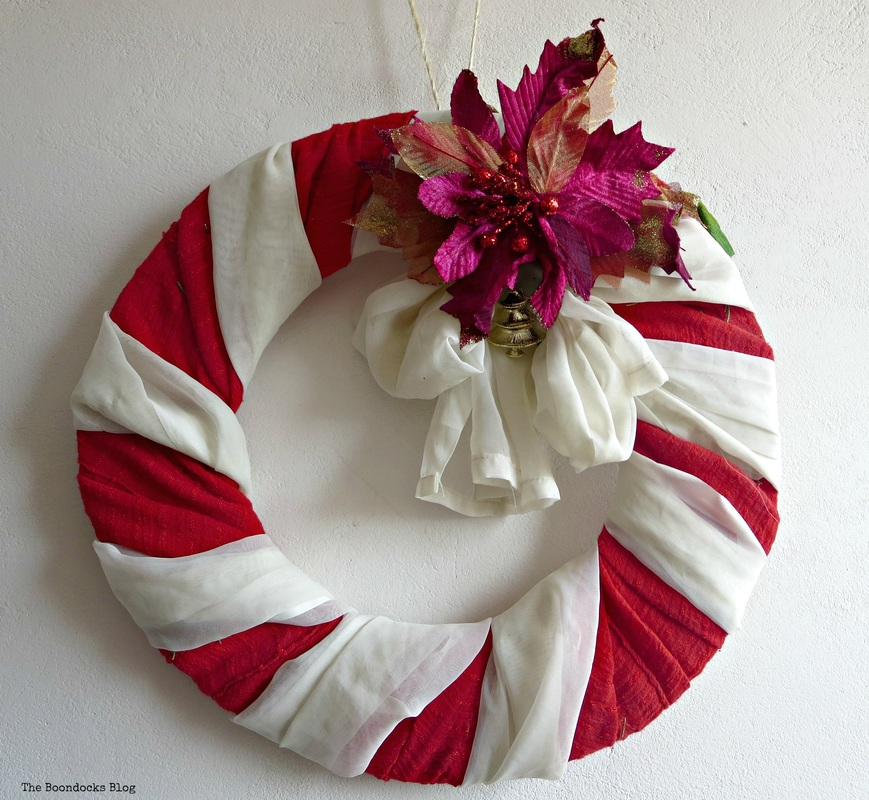 Red and White Wreath with flower - the boondocks blog