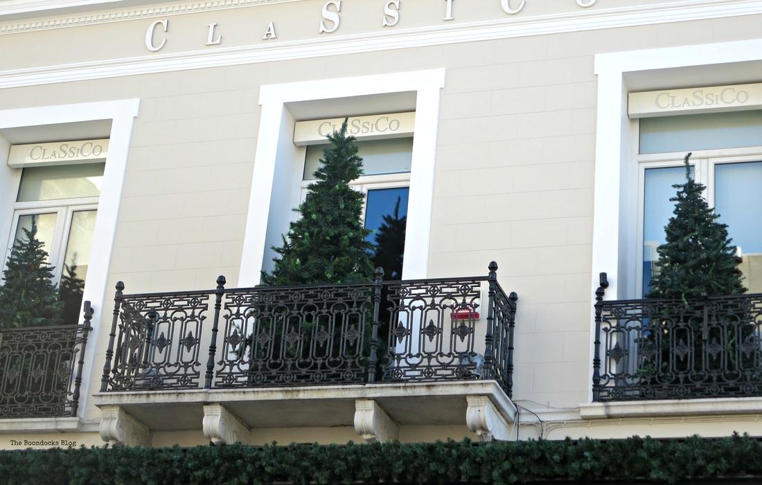 Christmas trees on balconies , Christmas ihe heart of the city - the boondocks blog