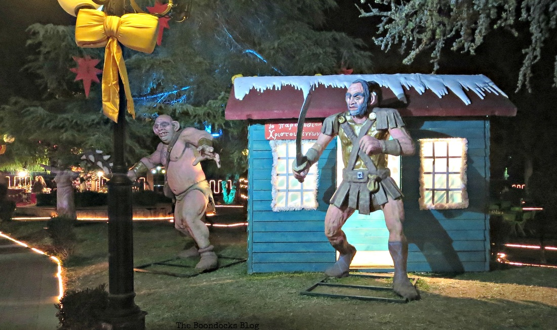 Troll Statues, Christmas Park - The Boondocks Blog