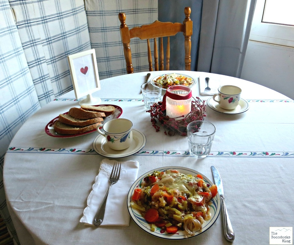 A set table with bread - Breakfast in Greece - The Boondocks Blog