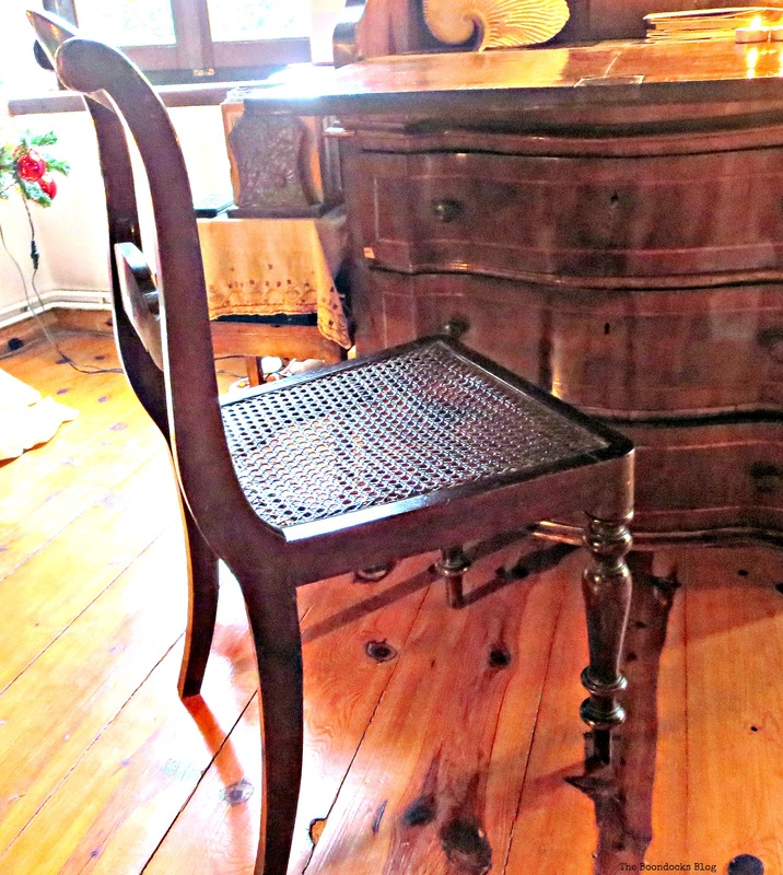 A w ooden chair with cain seating, A ho use full of tresures - the Boondocks blog