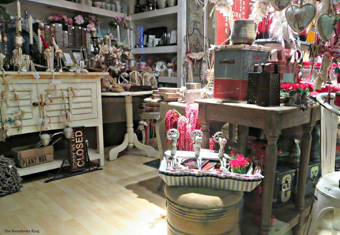 Interior of vintage store, A bright night on the town - the boondocks blog