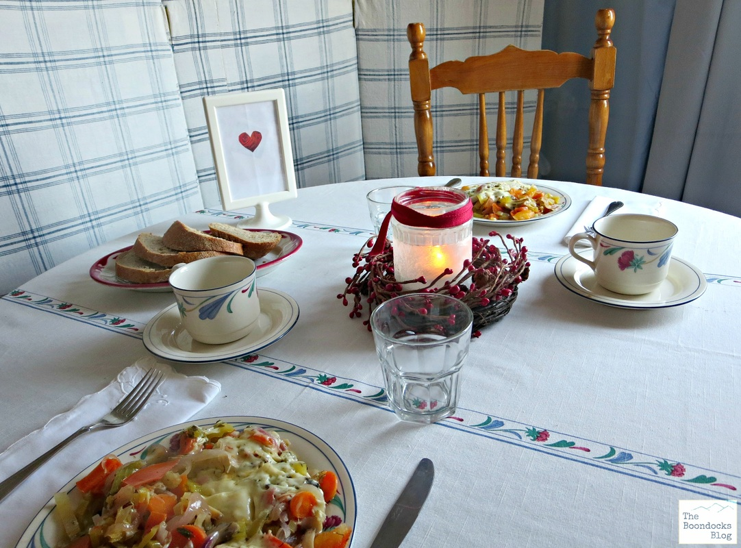Set table with Breakfast - Breakfast in Greece - the Boondocks blog