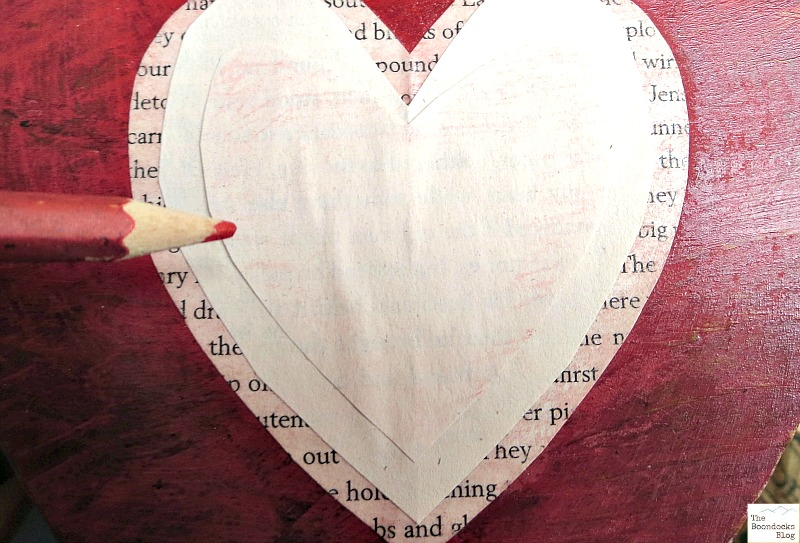 adding more hearts to the wood, what the heart hides - www.theboondocksblog.com