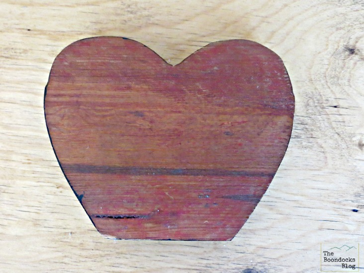 Heart shaped piece of wood, what the heart hides - www.theboondocksblog.com