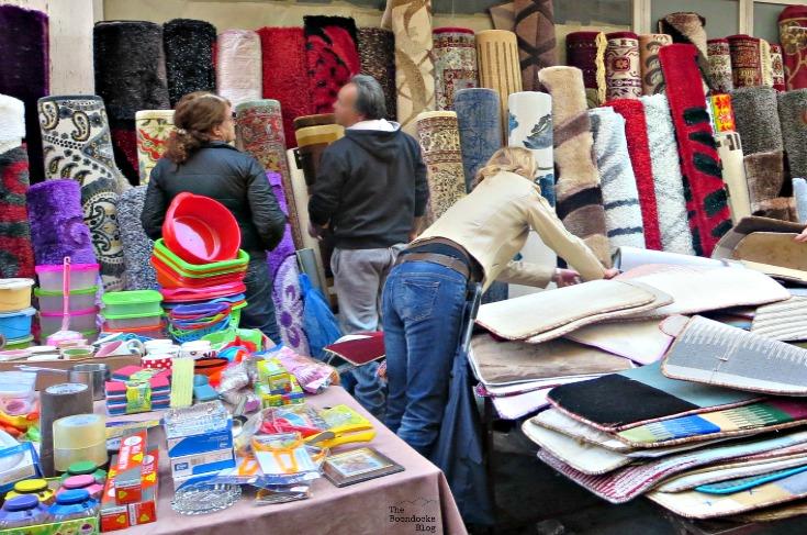 plastics, rugs stalls, The People's Market - www.theboondocksblog.com