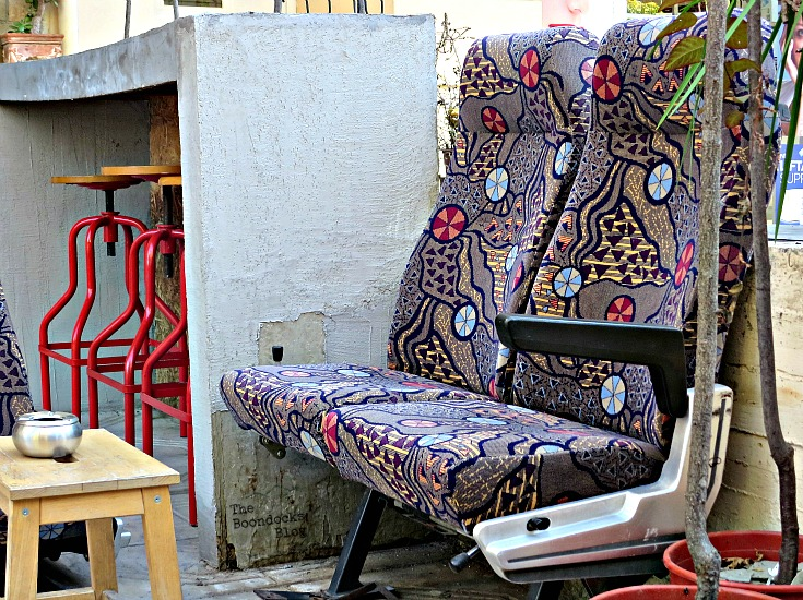 Airplane seats in the street, the people's market - the boondocksblog.com