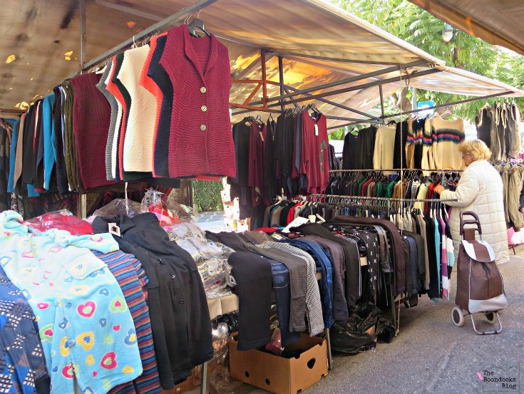 Clothng stalls, The People's Market - www.theboondocksblog.com