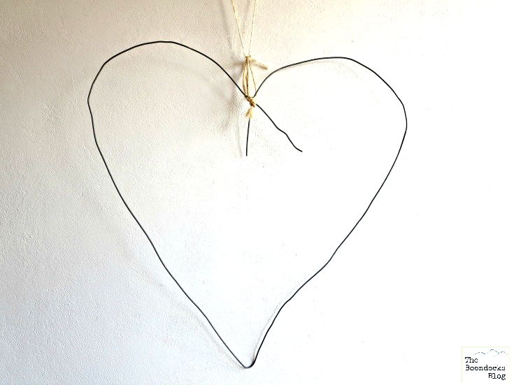 Wire bent in the shape of a heart.