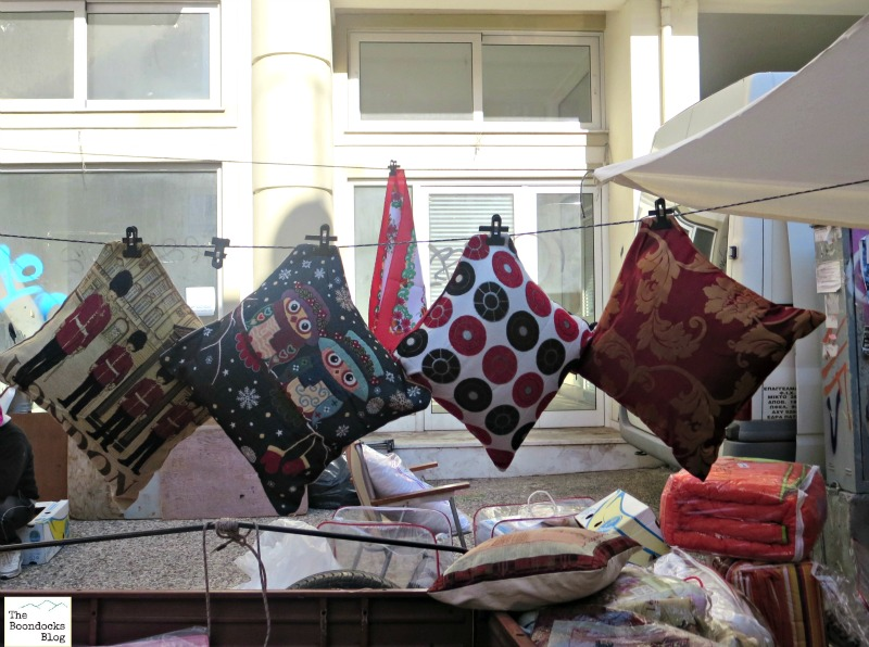 Hanging pillows, the people's market - the boondocksblog.com