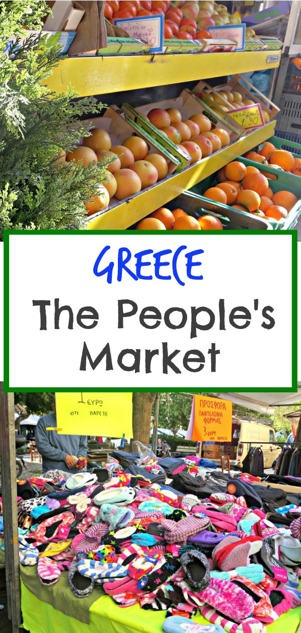 A photo essay of going to the market in Greece, #photoessay #photography #greece #travel #farmersmarket #peoplesmarket #outdoormarket #globe #travel The People's Market - www.theboondocksblog.com