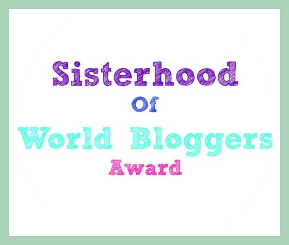 Sisterhood of world bloggers award logo www.theboondocksblog.com
