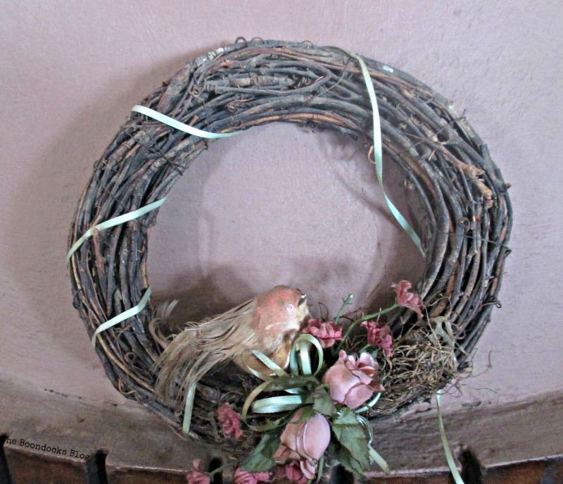 original wreath, A nest for my rustic eggs - www.theboondocksblog.com
