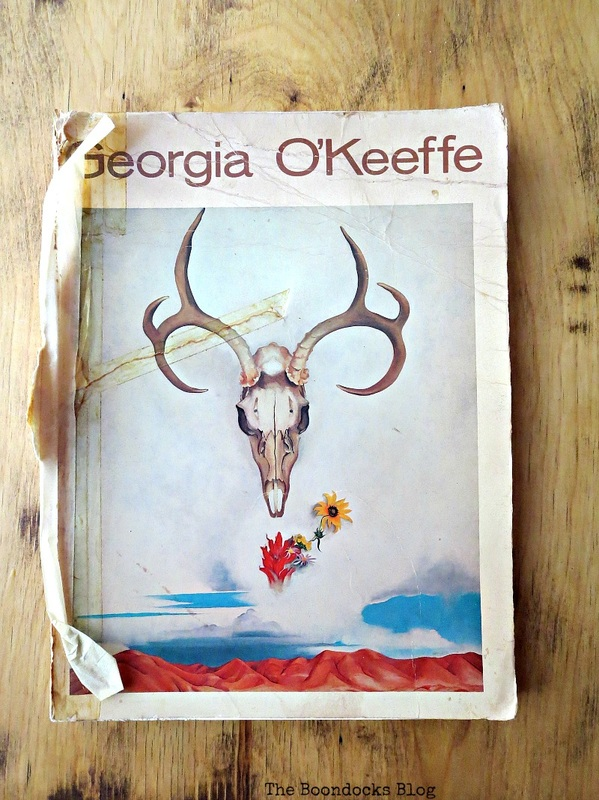 An art book by Georgia O'Keeffe www.theboondocksblog.com