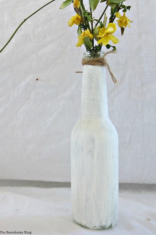 chalk paint bottle, My Spring Roll Bottles www.theboondocksblog.com