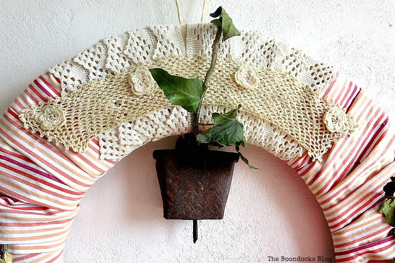 Crocheted details and bell, DIY My Spring - www.theboondocksblog.com