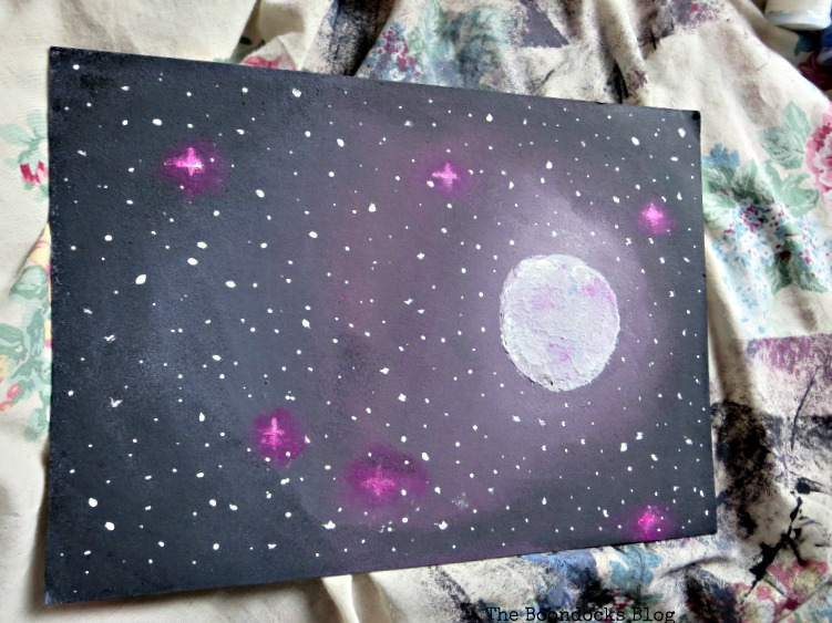 A painting of the stars and moon, The Stars and Moon www.theboondocksblog.com