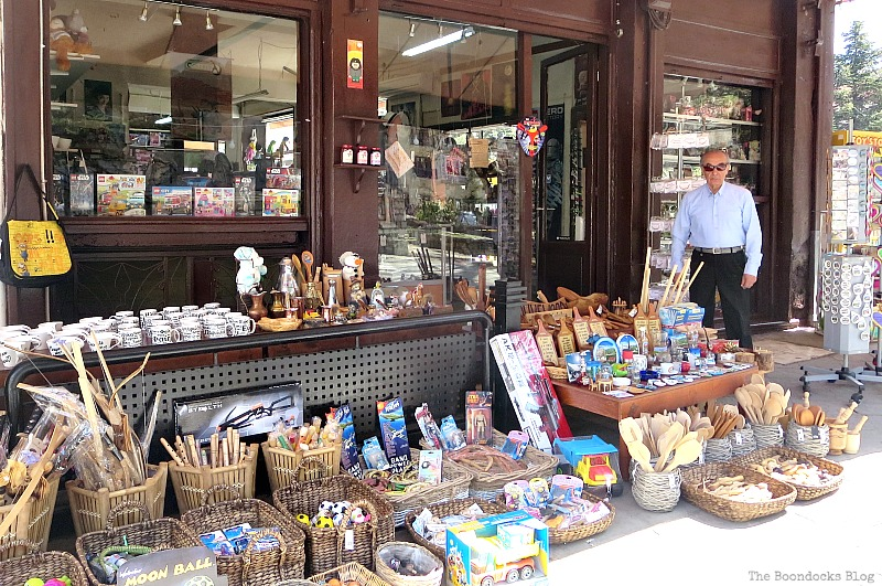 Souvenier shop Shopping in Greece - Int'l Bloggers Club Challenge www.theboondocksblog.com