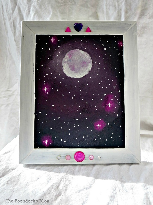 Picture frame with canvas for gift, The Stars and Moon www.theboondocksblog.com