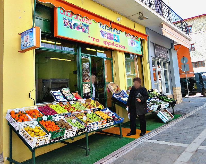 Greengrocers, Shopping in Greece - Int'l Bloggers Club Challenge www.theboondocksblog.com
