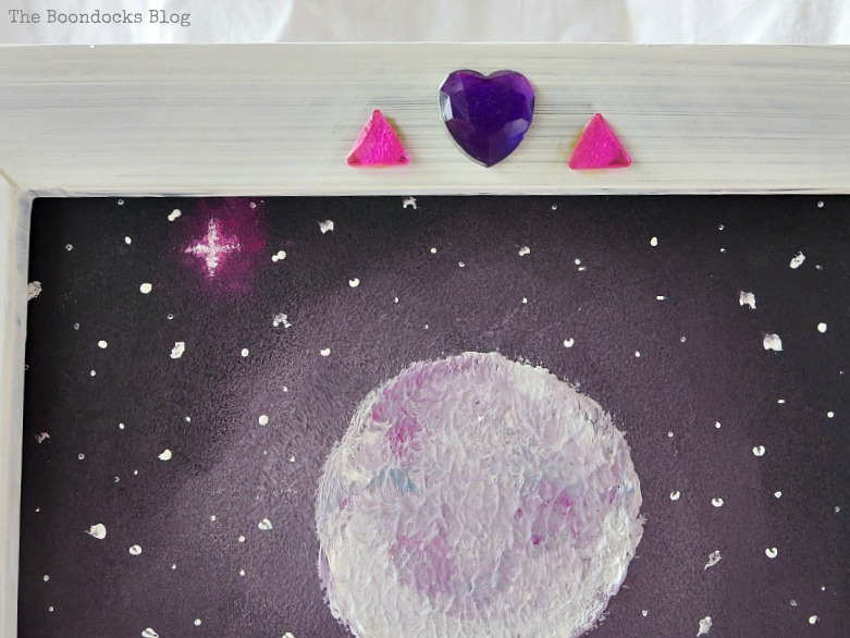 Close-up of  picture frame, The Stars and Moon www.theboondocksblog.com