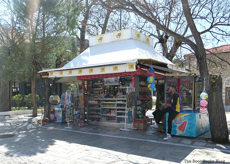 Kiosk Shopping in Greece - Int'l Bloggers Club Challenge www.theboondocksblog.com