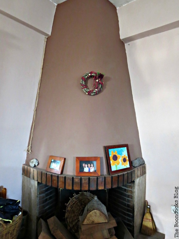 Fireplace before, The Long Overdue Fireplace makeover www.theboondocksblog.com