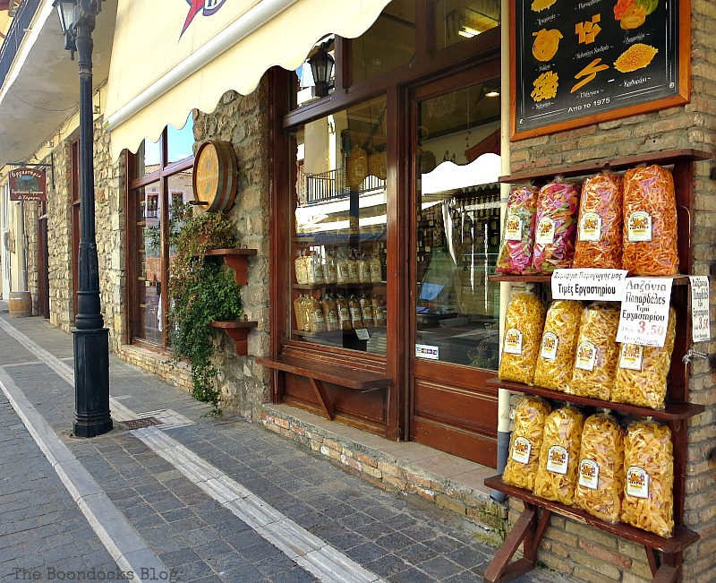 Picturesque store Shopping in Greece - Int'l Bloggers Club Challenge www.theboondocksblog.com