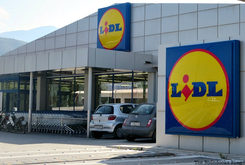 Lidl supermarket, Shopping in Greece - Int'l Bloggers Club Challenge www.theboondocksblog.com