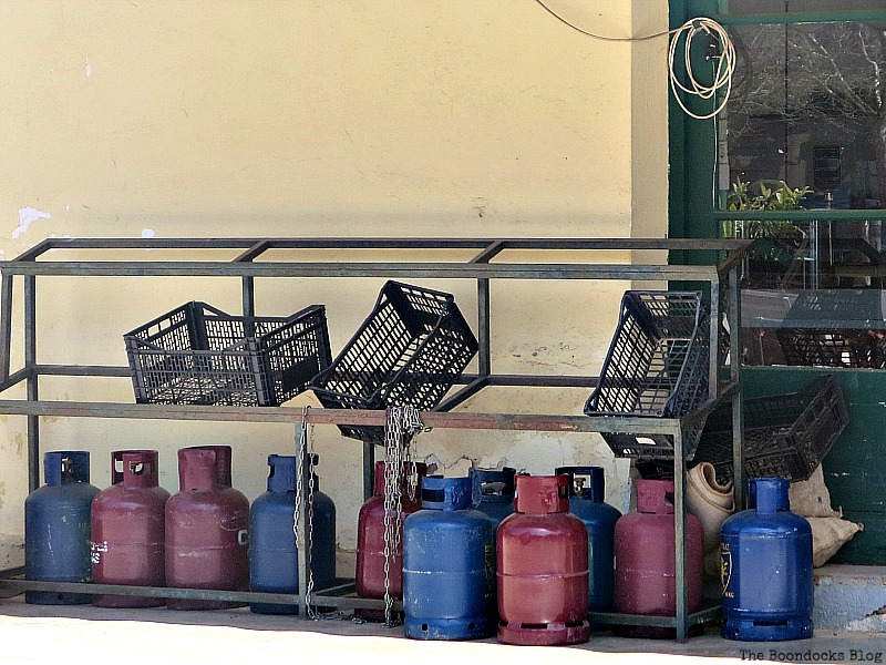 Gas canisters Shopping in Greece - Int'l Bloggers Club Challenge www.theboondocksblog.com