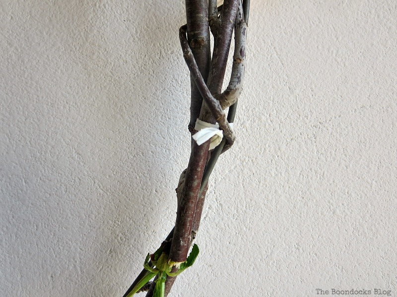 Tying the branches on the wreath, Celebrating May Day www.theboondocksblog.com