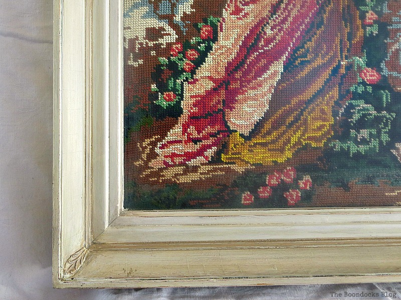 Detail of frame, A pretty Girl gets a surprise www.theboondocksblog.com