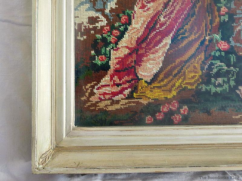 Detail of frame, A pretty Girl gets a surprise www.theboondocksblog.com