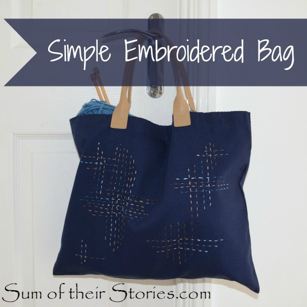 Simple Embroidered Bag Sum of their Stories Last Minute DIY Mother's Day Gifts www.theboondocksblog.com