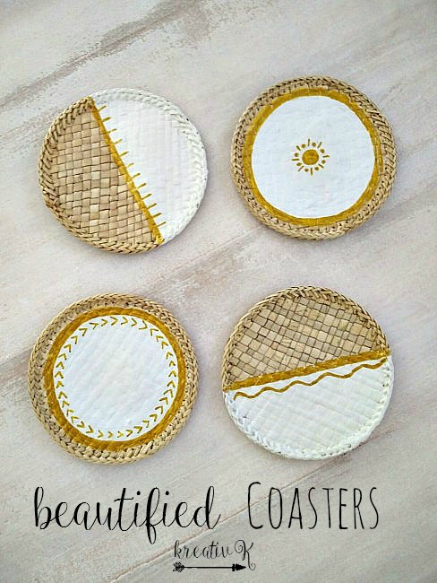 Beautified Coasters KreativK Last Minute DIY Mother's Day Gifts www.theboondocksblog.com