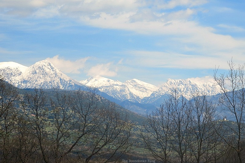 Snow peaks all around, The Majestic Mountains of Greece www.theboondocksblog.com