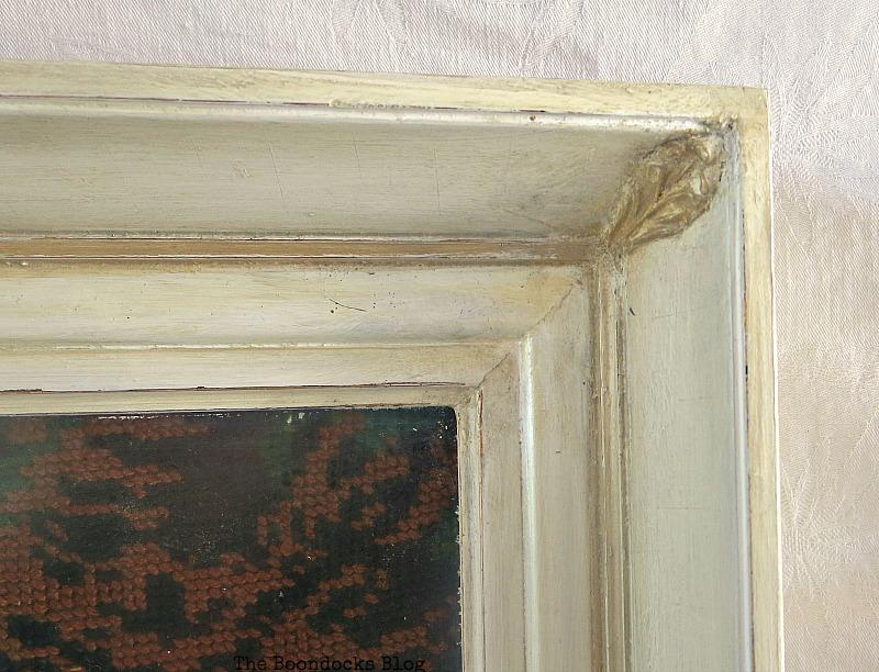 Detail of frame, upper corner A pretty Girl gets a surprise www.theboondocksblog.com