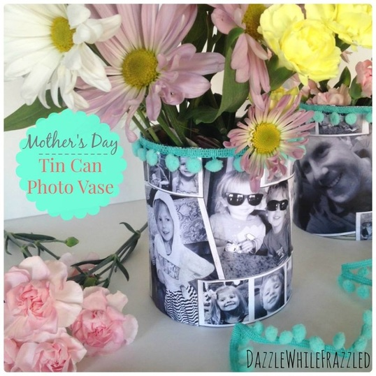 Mother's Day Tin Can Photo Vase, Dazzle while Frazzled