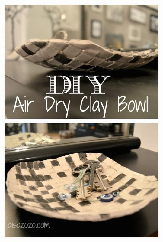DIY Air Dry Clay Bowl Bisozozo Last Minute DIY Mother's Day Gifts www.theboondocksblog.com