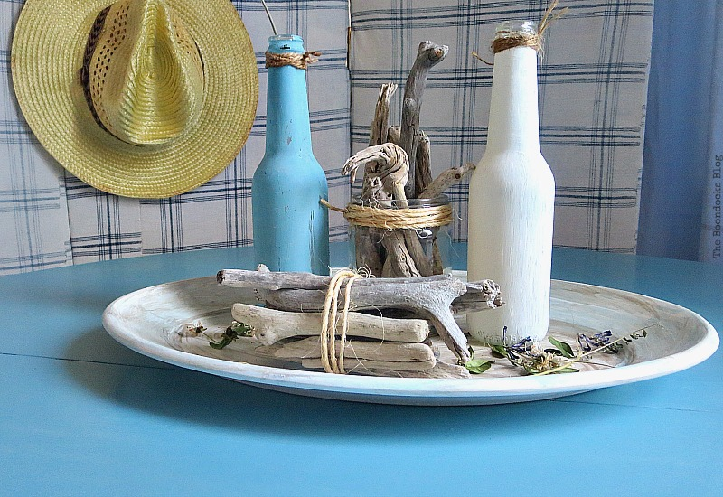 A beachy vignette, Greek Beach Table - Int'l Bloggers Club Challenge theboodocksblog.com