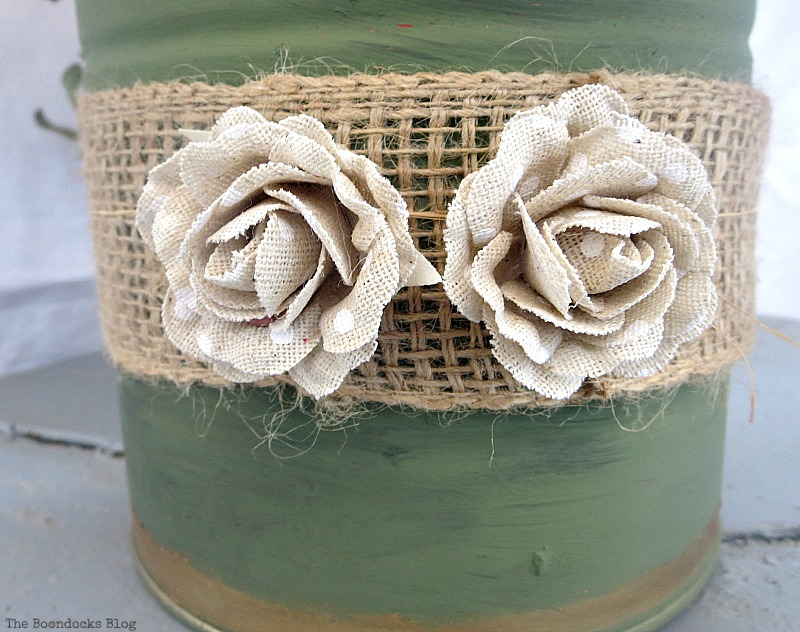 Fabric flowers, How to Repurpose cans instead of being overrun by them / www.theboondocksblog.com