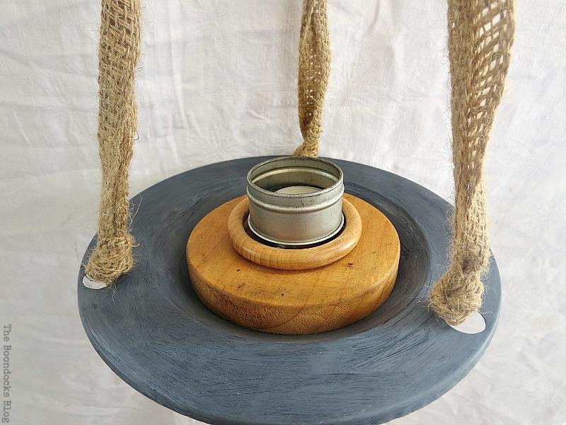 Tin metal tea light holder, The Virsatile Hanging Saucer / www.theboondocksblog.com