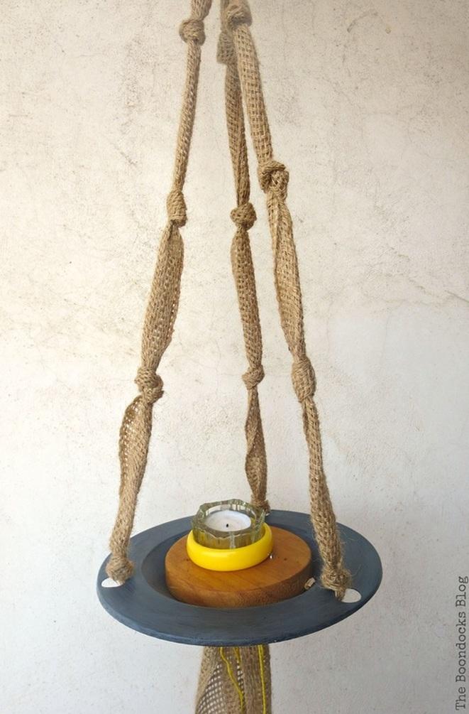 The Versatile Hanging Saucer / www.theboondocksblog.com