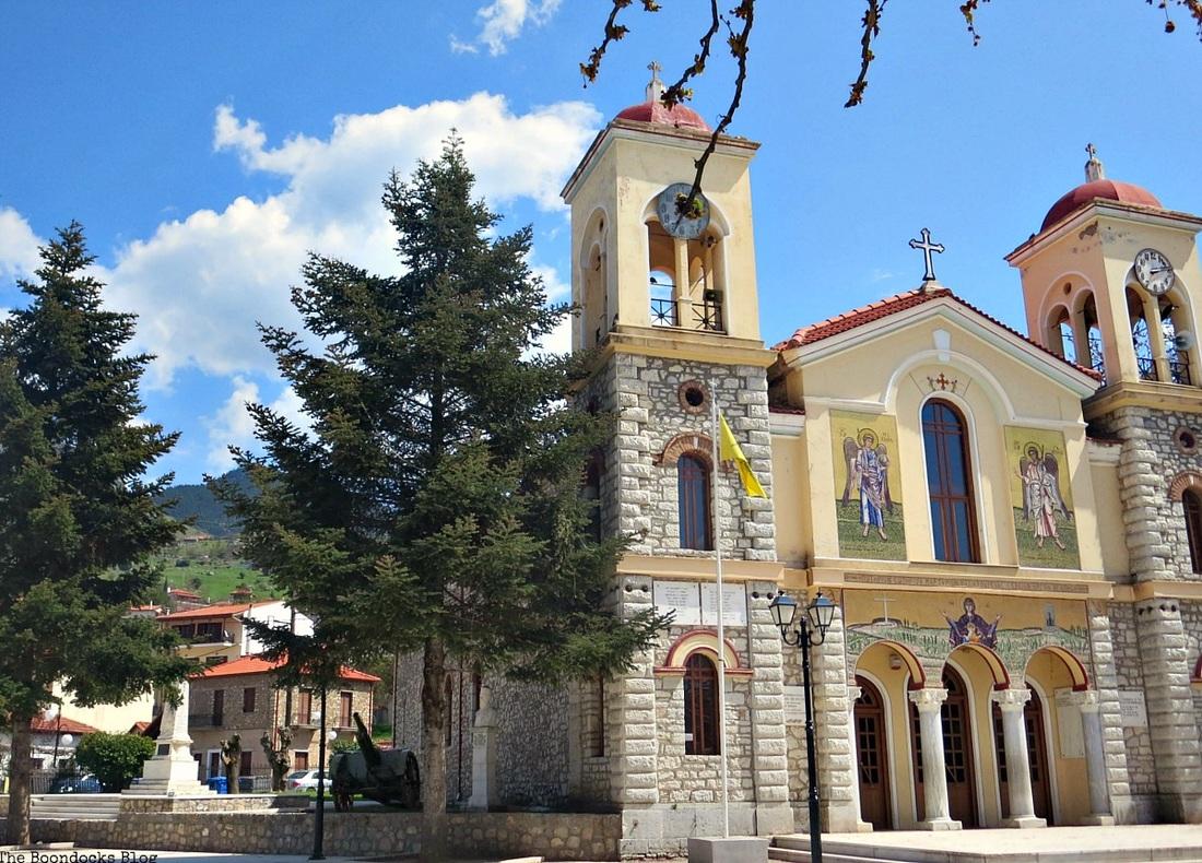 A church in the village of Kalabryta, Greece A recap of my Facebook photos from June www.theboondocksblog.com