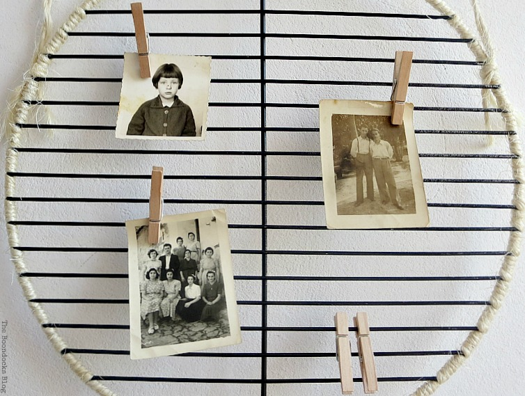 Photo displays, Wrapping it Up for Father's Day www.theboondocksblog.com