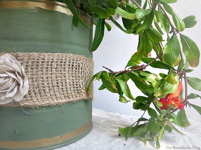 adding pomegranate branches, How to Repurpose cans instead of being overrun by them / www.theboondocksblog.com