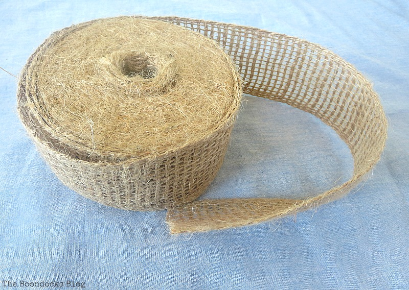 Burlap ribbon, How to Repurpose cans instead of being overrun by them / www.theboondocksblog.com