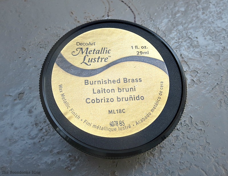 Metallic Lustre Brass finish, How to Repurpose cans instead of being overrun by them / www.theboondocksblog.com